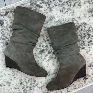 Alex Marie slouchy suede wedge boots